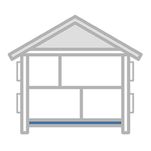 Schematic of a house looking at underfloor insulation