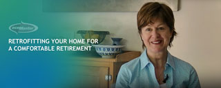 woman speaking about retrofitting her home for retirement
