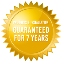ecoMaster 7 Years Guarantee for Products and Installation Gold Badge