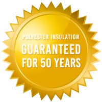 ecoMaster Polyester Insulation 50 Years Gold Badge