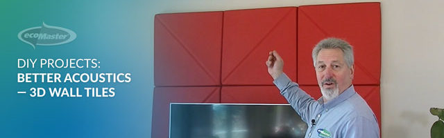 ecoMaster Maurice Beinat pointing at a red beautiful 3D Wall tiles