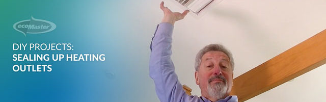ecoMaster Maurie Beinat points out the heating vent they sealed and draught proofed